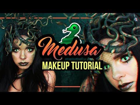 MEDUSA - Halloween Makeup Tutorial + DIY Headpiece (deutsch) #spooktober