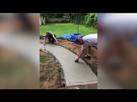 Meredith And AJ In The Morning - #GoodNews: Firefighters Spend Their Days Off Making Ramp for Disabled Woman