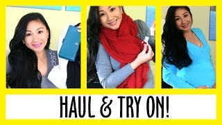 90% off Designer Clothes! Winter Haul & Try On + Pregnancy Maternity Clothes!