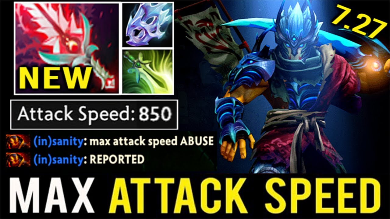 New Crazy 7 27 Bloodthorn Max Attack Speed Pro Juggernaut 43 Kills Most Imba Hero By Raven Dota 2 Youtube