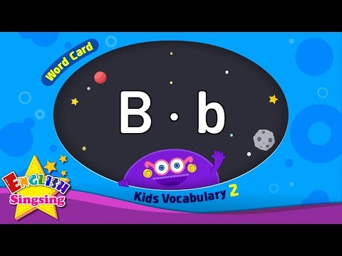 Kids vocabulary compilation ver.2 - Words Cards starting with B, b - Repeat after