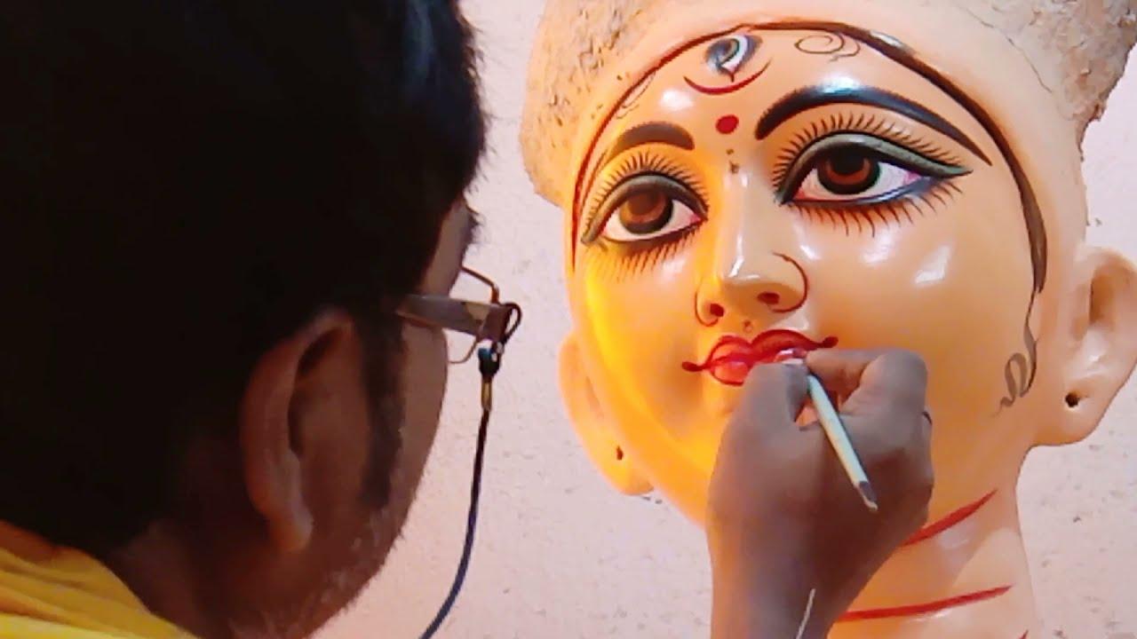 Durga Idol Painting at Kolkata Kumartuli 2021 | Exclusive video on Kumartuli 2021 | Durga Idol 2021