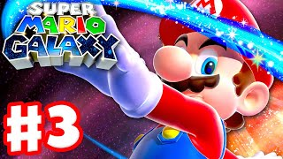 Super Mario Galaxy - Gameplay Walkthrough Part 3 - Space Junk Galaxy! (Super Mario 3D All Stars)