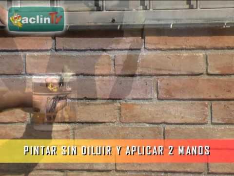 Paclin tv c mo protegeter paredes de ladrillos youtube - Ladrillos decorativos para exteriores ...