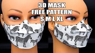 Breathable Face Mask Sewing Tutorial 3D mask FREE PATTERN Gigi Fashion Designer