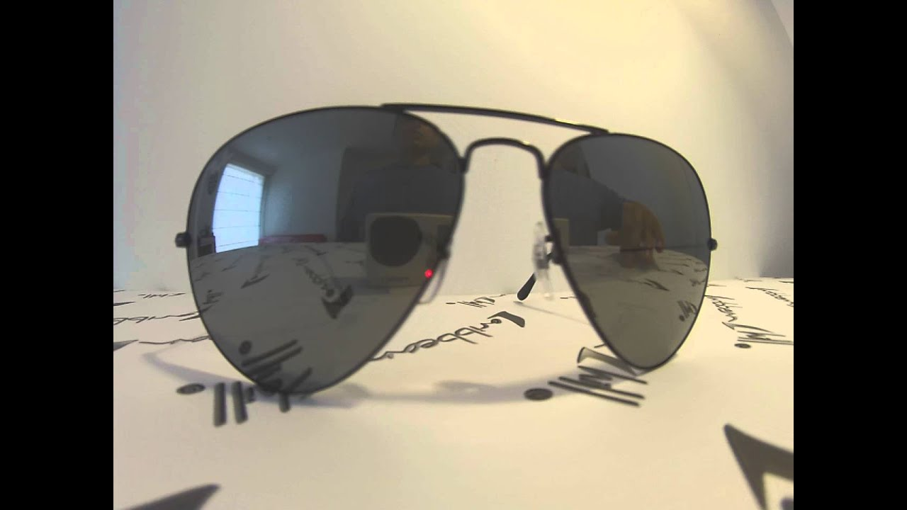 ed8d28d054 Ray ban aviator large metal rb3026 002 40 - YouTube