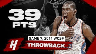 The Game YOUNG Kevin Durant TOOK OVER Game 7! SICK 39 Points Highlights vs Grizzlies | 2011 Playoffs
