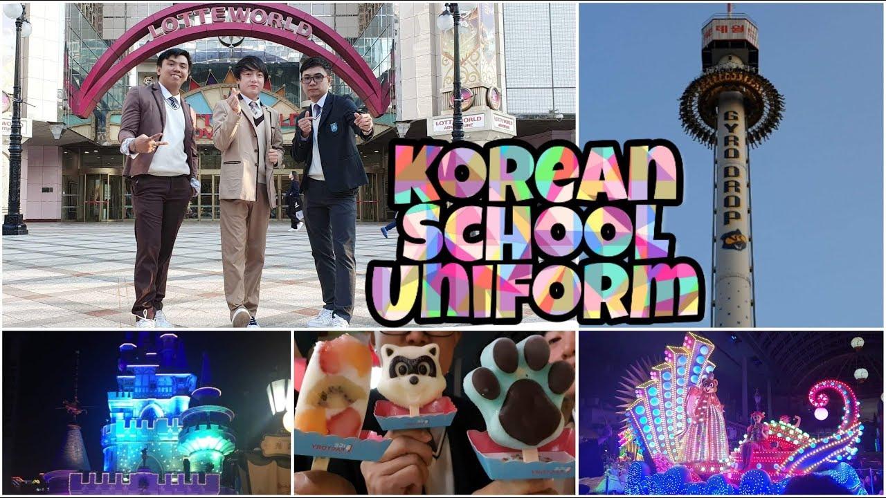 [VIDEO] - Korean School Uniform | Lotte World Adventure | Explore Korea 9