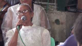 igorot matriarch gives the opening speech at the wedding party