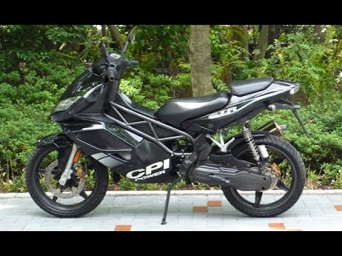 cpi gtr 2 50cc scooter 50cc test ride. Black Bedroom Furniture Sets. Home Design Ideas
