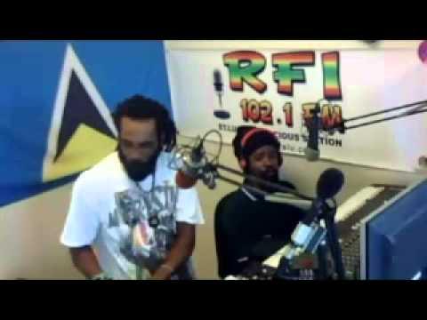 NATTY MARTYR LIVE @ RFI STUDIO 102 1 FM   WITH RAS IEVE DEC 4TH 2014