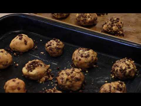 Butter Less Chocolate Chip Cookies