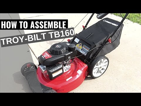 How to Assemble Troy Bilt TB160 Lawn Mower