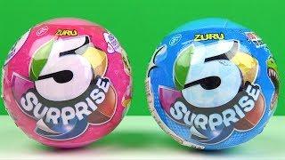 5 Sürpriz Yumurta da hangi Kız oyuncakları Erkek oyuncakları çıktı Zuru 5 Sürpriz Top 5 Surprise Egg