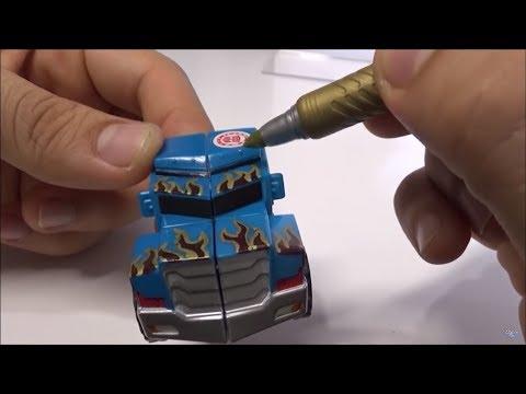 Como Personalizar Transformers con marcadores metálicos. Customizing transformers w/markers