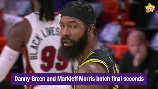 Lakers' Danny Green misses potential game-winner, then Markieff Morris tosses ball out of bounds