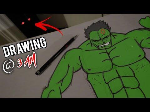 DO NOT DRAW AT 3 AM!! *DRAWING HULK GOES WRONG*