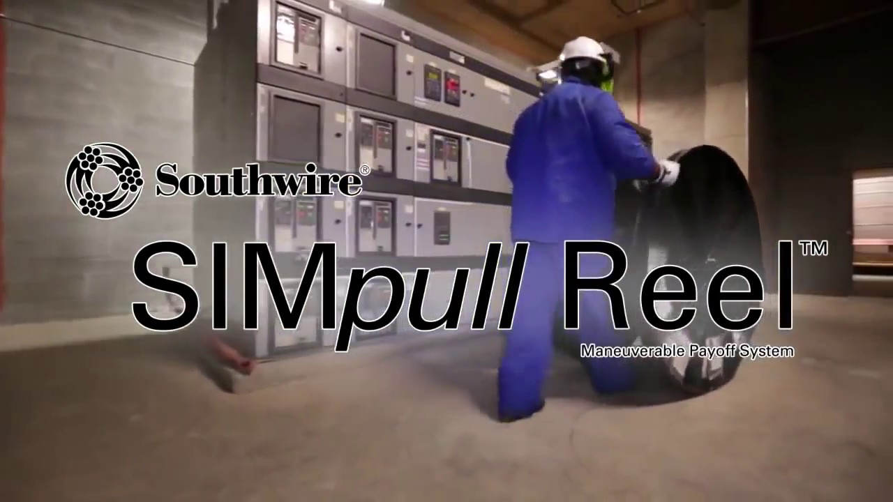 Southwire SIMpull REEL™ Maneuverable Payoff System - YouTube