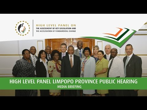 Media Briefing: High Level Panel Public Hearing in Limpopo Province: 14 March 2017