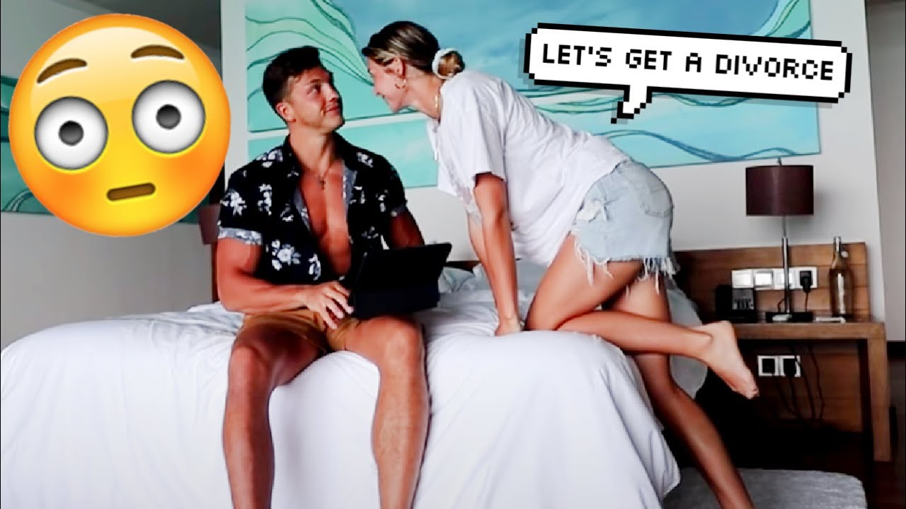 PRANKING MY WIFE ON OUR HONEYMOON!!