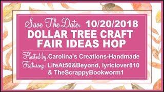 Save Dollar Tree Craft Fair Ideas Hop