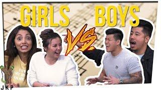 Who Knows SONG LYRICS Better? | GIRLS VS BOYS! Ft. Gina Darling