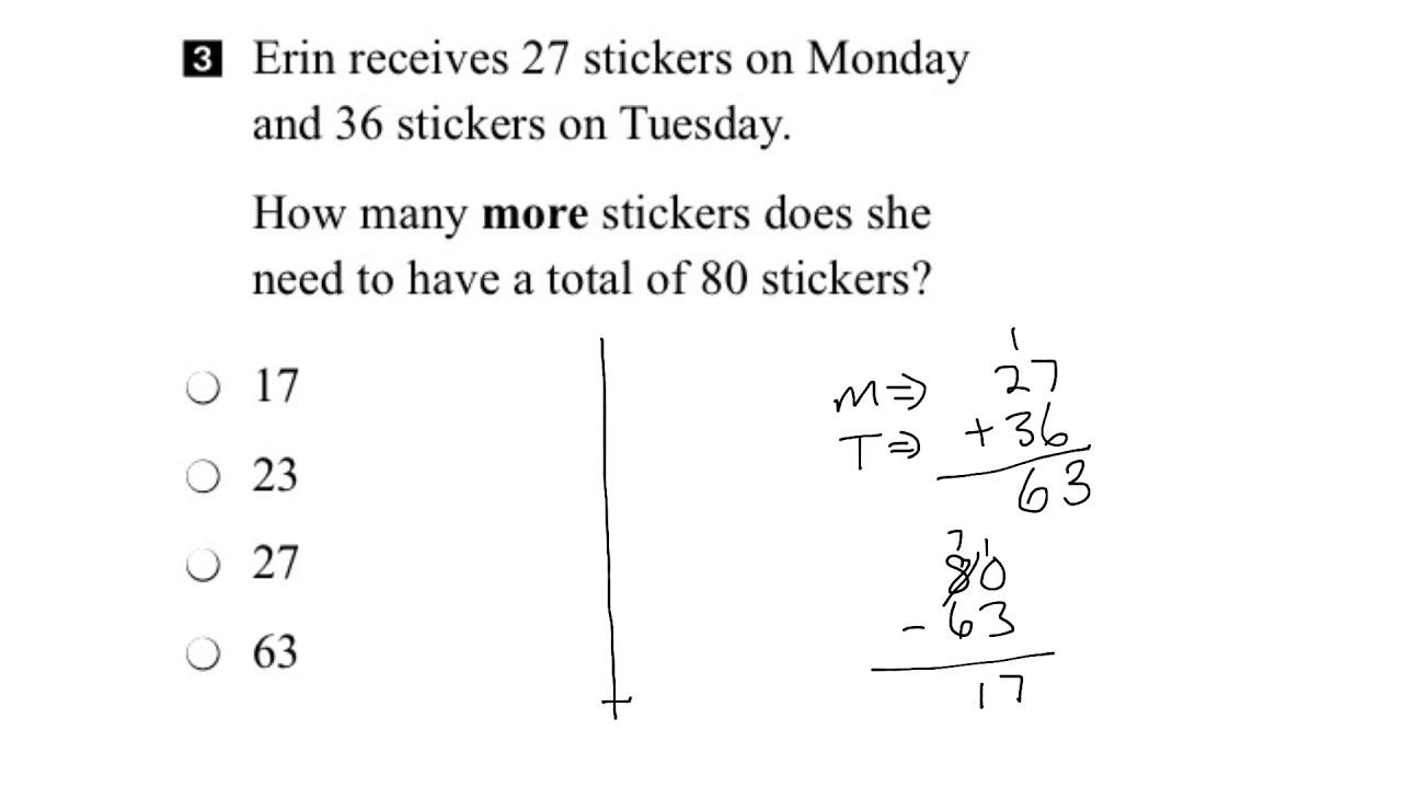 EQAO Grade 3 Math 2017 Question 3 Solution