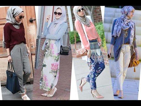 موضة ملابس محجبات كاجوال 2016 Casual Hijab Fashion Style 3
