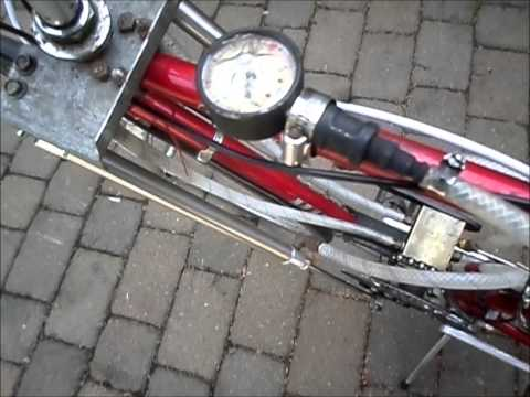 "Air powered bike w/first prototype ""Little"" motor"