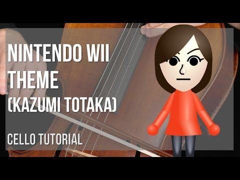 How to play Nintendo Wii Theme by Kazumi Totaka on Cello (Tutorial)