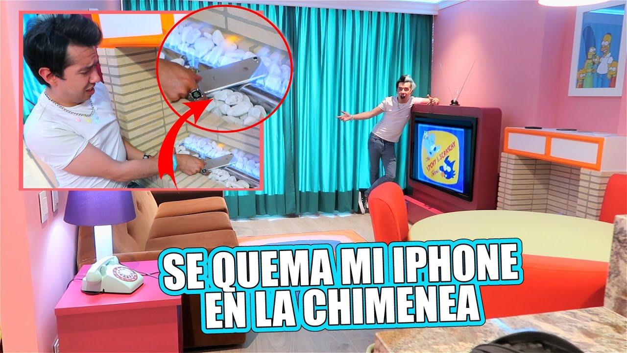 Recreo la Sala de los Simpson y Se me Quema el iPhone en la Chimenea - Enchulando Mi Casa Cap #15
