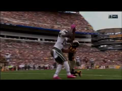 Brandon Marshall Makes Amazing Juggling TD Catch Over Defender! | Jets vs. Steelers | NFL