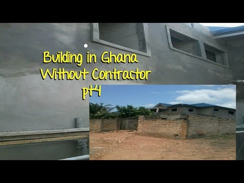 Building In Ghana  Pt 4 // Windows dressing// Plastering update