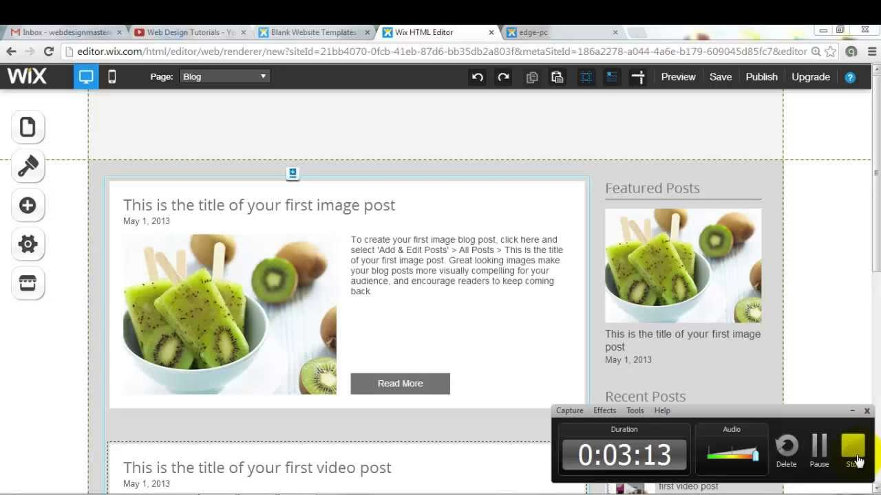 Wix my Website: How to add a Blog to your Wix website - YouTube