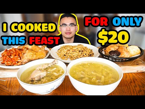 I only had $20.00 to cook this FEAST