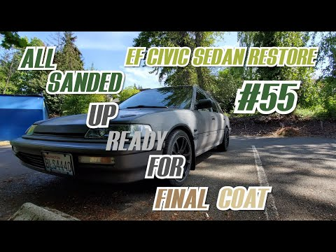 Final Sanding and Touch-Up Before Last Coat! EF CIVIC SEDAN RESTORE #55