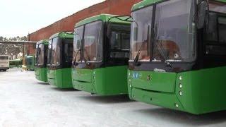 В Екатеринбург прибыли 20 низкопольных автобусов из Башкирии