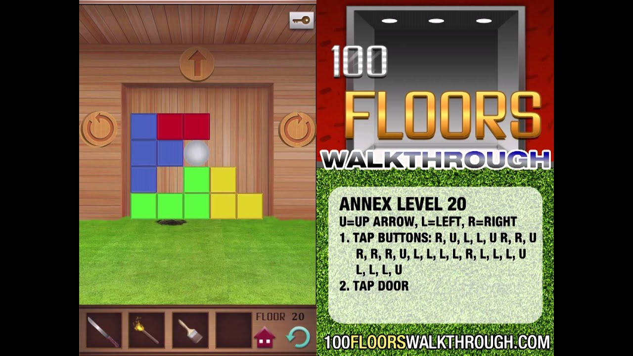 100 Floors Walkthrough Annex Floor 20 Walkthrough 100
