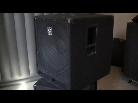 "Carvin LS1801A Active 18"" Subwoofer - Test, Review, Teardown!"