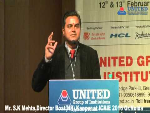 Mr S.K. Mehta, Director BOAT (NR), Kanpur At ICRIE-2016 UGI Greater Noida
