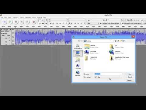 Converting Audio File to MP3 format using Audacity