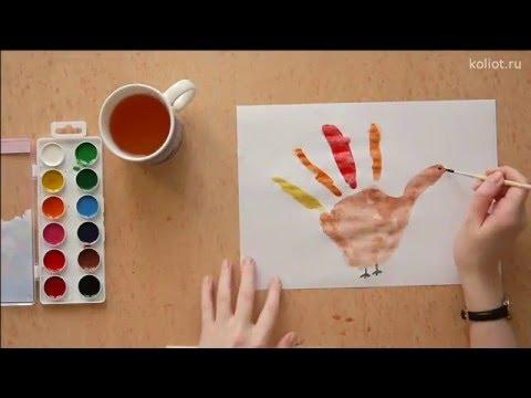 Видеозапись 21. Рисуем курочку - детские поделки