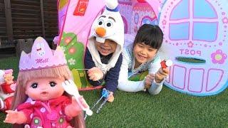 メルちゃん おもちゃ アナと雪の女王 エルサ オラフ で お誕生会 セット frozen elsa Baby Doll Mellchan birthday party Toy thumbnail