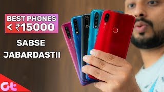 TOP 7 BEST PHONES UNDER 15000 in August 2019   Sabse Jabardast   GT Hindi