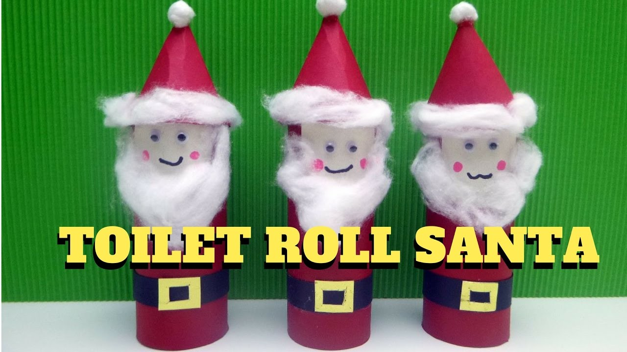 Christmas craft toilet paper roll santa claus toilet paper christmas craft toilet paper roll santa claus toilet paper roll craft youtube jeuxipadfo Choice Image