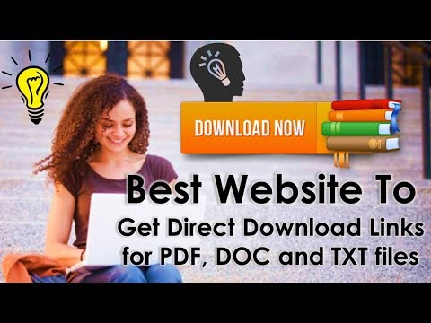 How to get direct download links for .PDF, .DOC & .TXT files?