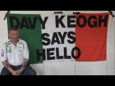 Heading to the Euros - Irish superfan Davy Keogh says hello