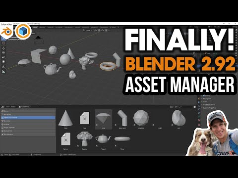 FINALLY! Blender 2.92 ASSET MANAGER - Save Models, Materials, and More!