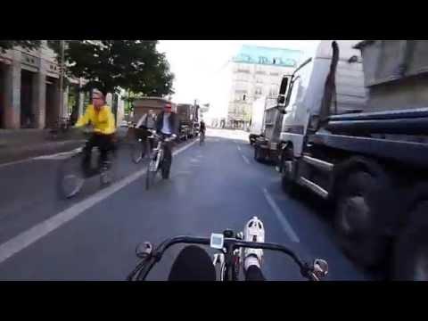 Recumbent Bike to Work Ride on HP Speedmachine
