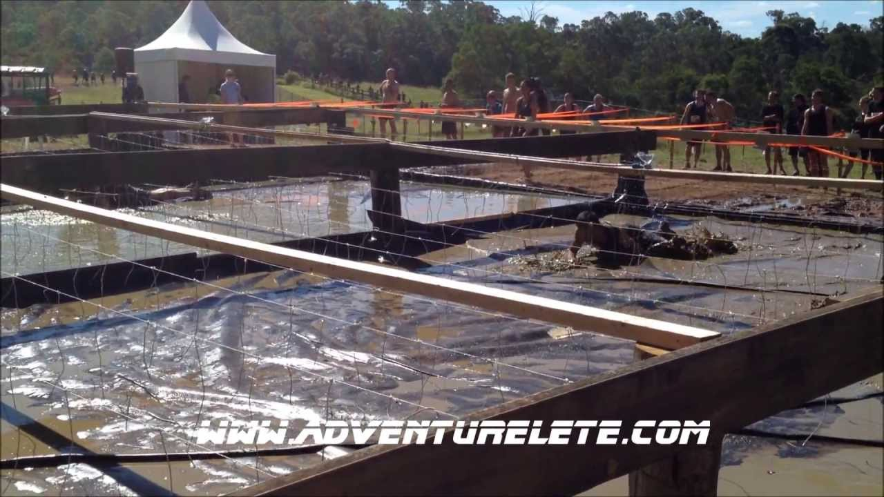 Tough Mudder Sydney Electric Eel Obstacle - April 2013 - YouTube